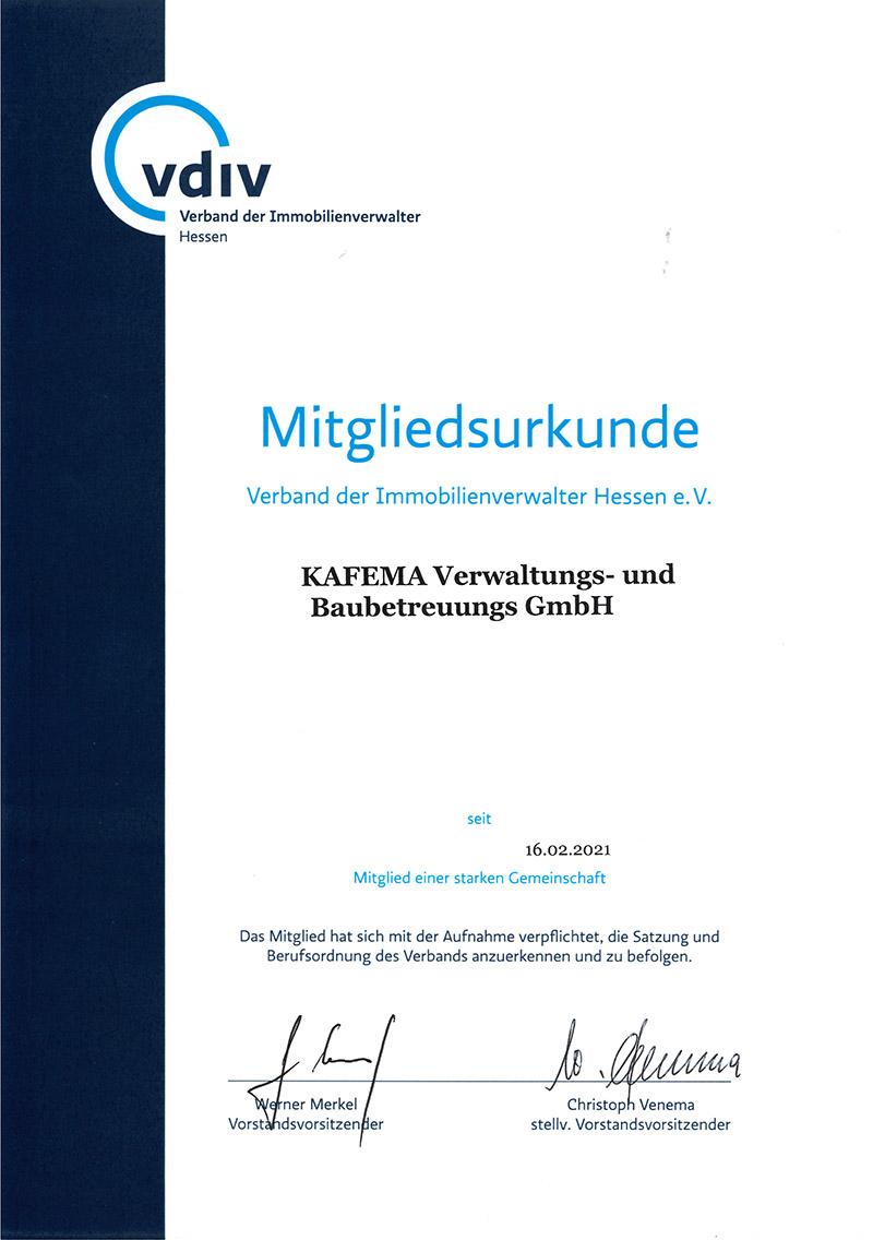 Mitgliedsurkunden-VDIV